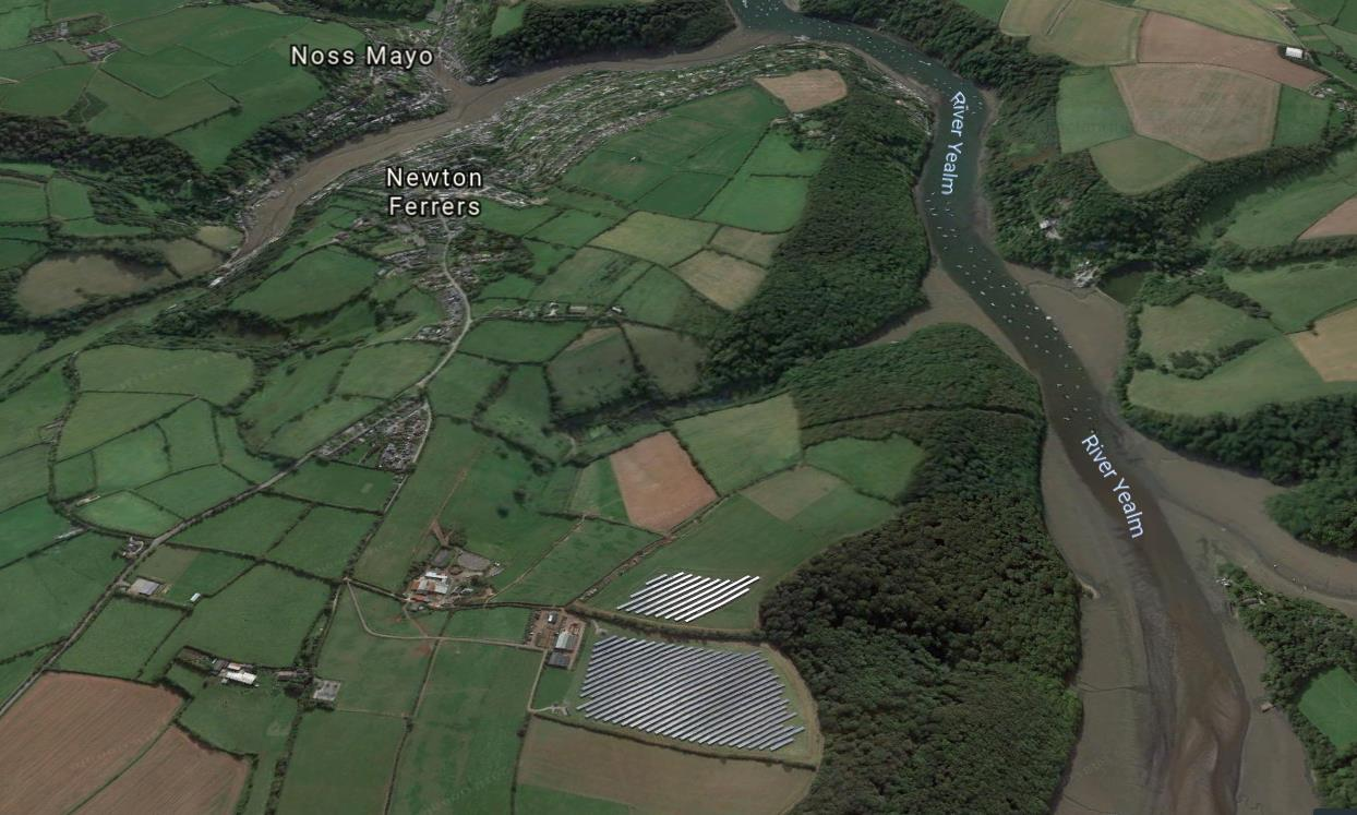 Newton Downs from Google Earth 3D - Newton Downs Farm, Newton Ferrers