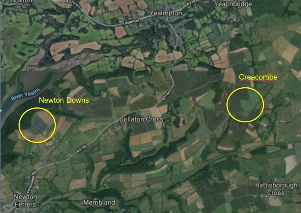 Map of Newton Downs and Creacombe 1024x724 - Investing in solar farms